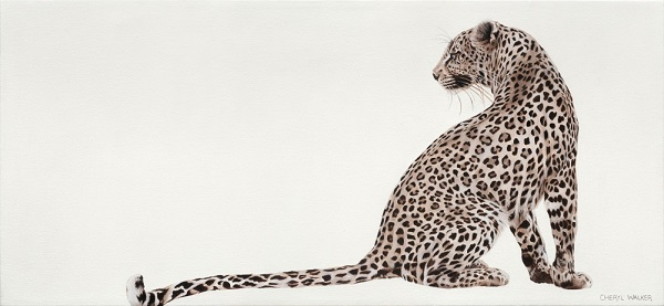A Leopards Tale - Leopard, Painted from photo taken by my friend,  Angie Lang, Kruger
